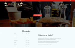 Referenzbild von der Homepage- und Lieferserviceerstellung #ImBeef